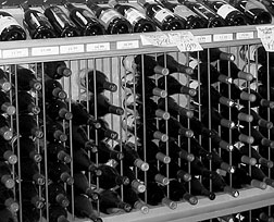 Report cover image of racks of wine bottles